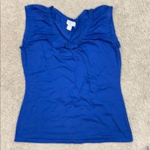 Loft NWOT royal blue camisole.  Size L.